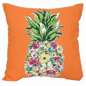 Floral, Pineapple, Outdoor, Pillow, 17, U0026quot, X, 17, U0026quot