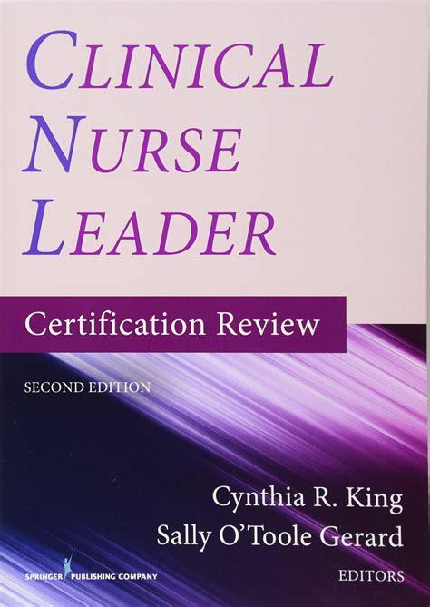clinical nurse leader certification review  edition