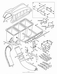 Mtd 19a40002oem Triple Rear Bagger  2012   19a40002000  2012  Parts Diagram For General Assembly