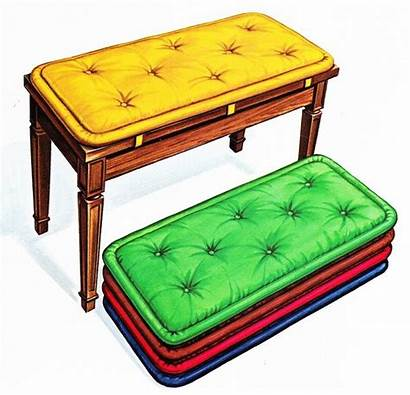 Bench Piano Cushion Pad Cushions Schaff Performer