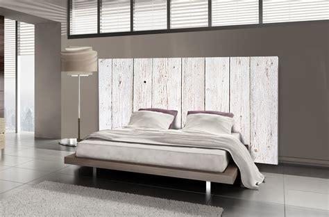 tete de lit 140 t 234 te de lit bois blanc motif lambris mds