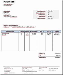 Abrechnung Muster : kostenlose rechnungsvorlage word mit anleitung ~ Themetempest.com Abrechnung