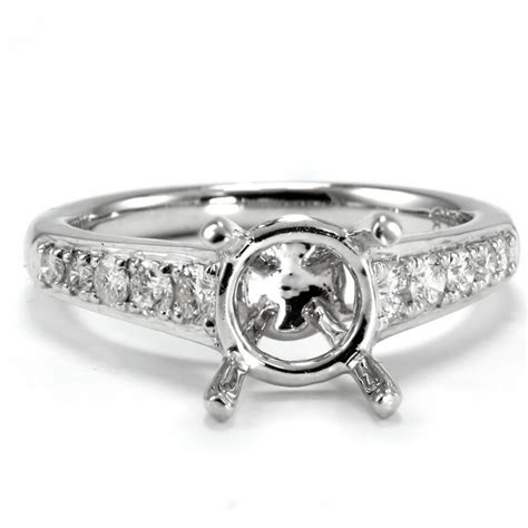 chanel bead 4 prong engagement ring setting cheap