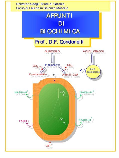 dispense biologia molecolare appunti biochimica pdf