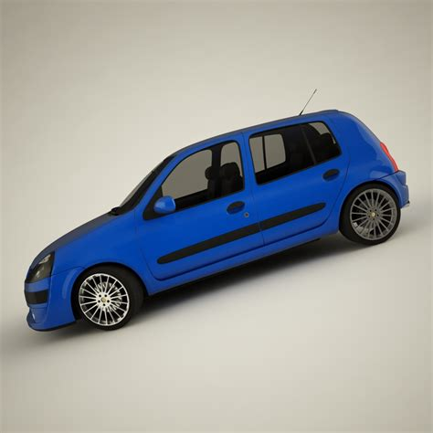 renault car models renault clio 2004 sport 3d model buy renault clio 2004