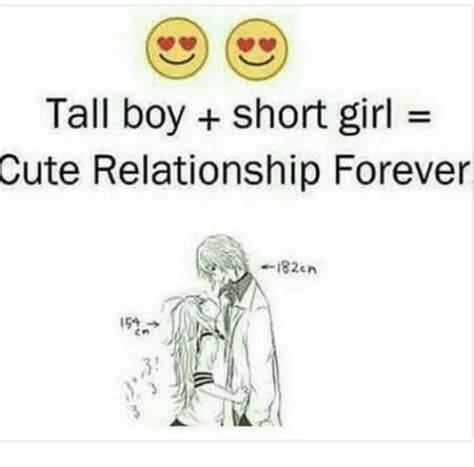 Cute Relationship Memes - tall boy short girl cute relationship forever en meme on me me
