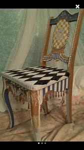 Hand, Painted, One, Of, A, Kind, Unique, Chairs, Bedroom