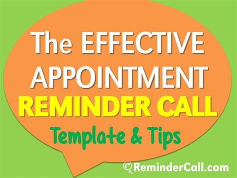 effective appointment reminder call template tips