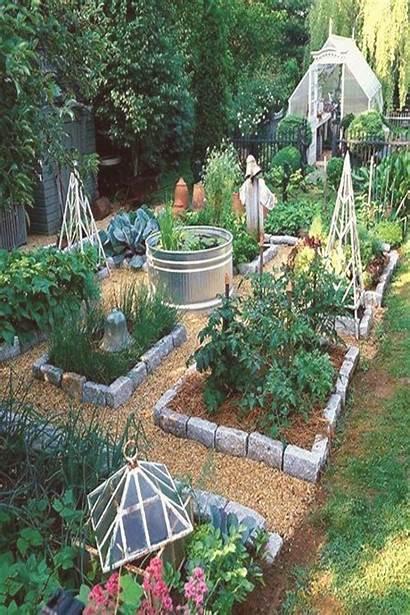 Garden Raised Vegetable Bed Paths Stone Mulch