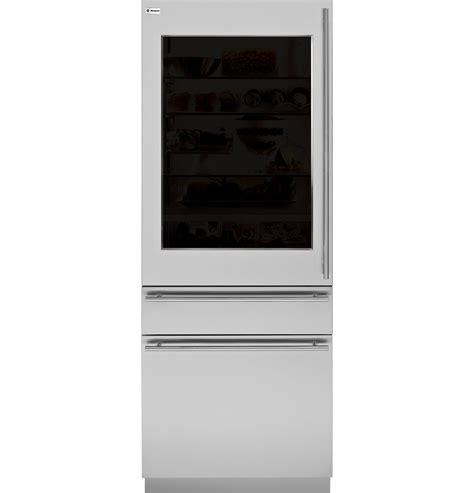 zikgnhii monogram  integrated glass door refrigerator  single  dual installation