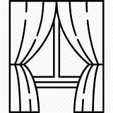 Window Curtain Curtains Drawing Stage Icon Glass Frame Clipart Line Blinds Transparent Furniture Icons Shades Background Broken Open Flaticon Getdrawings sketch template