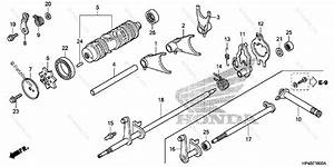 Honda Atv 2012 Oem Parts Diagram For Gearshift Fork