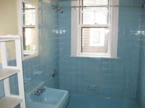 Blue Tile Bathroom Ideas Save The Pink Bathroom Website Wednesday Centers And Squares