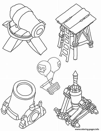 Clash Clans Royale Coloring Pages Tower Royal