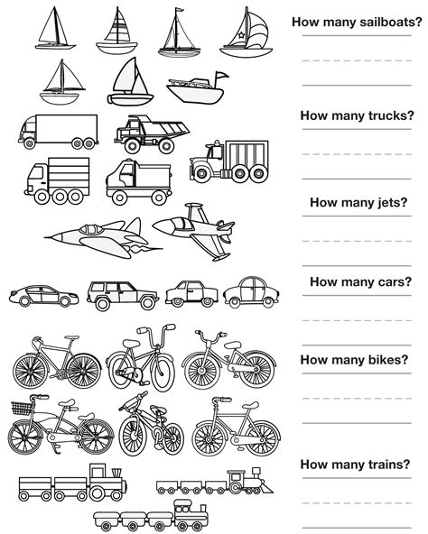Transportation Worksheet Kindergarten Worksheets For All  Download And Share Worksheets Free