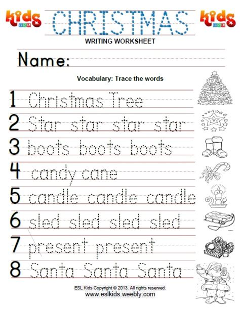 christmas activities games  worksheets  kids