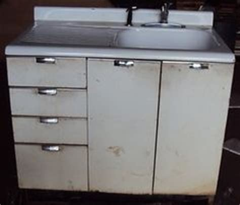 enamel sinks kitchen vintage retro metal kitchen cabinet cast iron sink ebay 3566