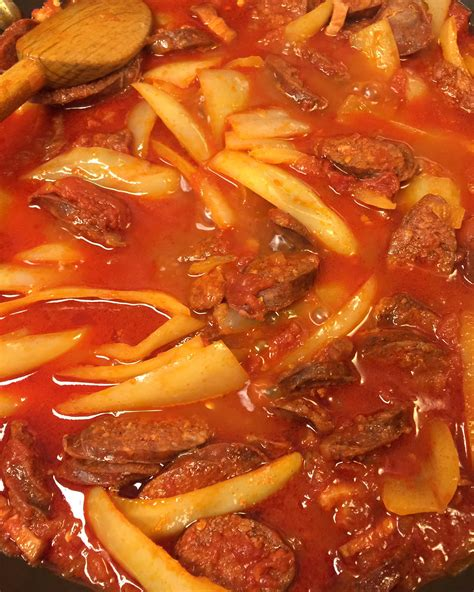 spicy hungarian sausage goulash lecso stasia wimmer food