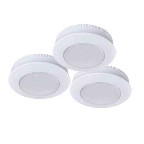 shop ecolight 3 pack 3 in battery puck lights at lowes