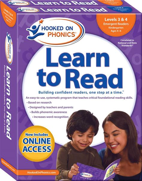 Hooked On Phonics Learn To Read  Levels 3 & 4 Complete  Word Families (early Emergent Readers