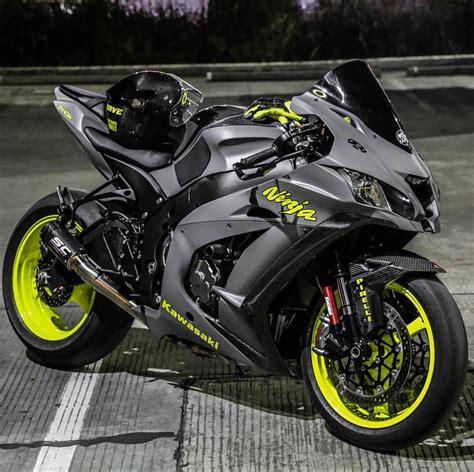 Zx10r Kawasaki by Bikeswithoutlimits Weapon Via Amracing88 Bwl