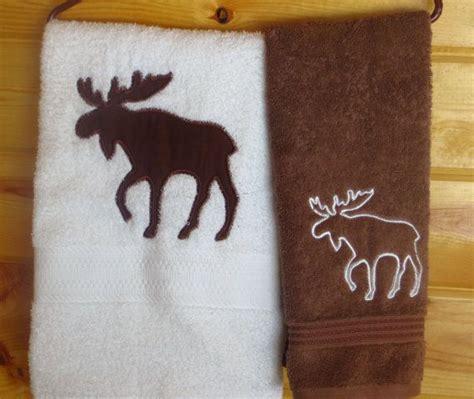 Rustic Bath Towel Sets by Log Cabin Or Lodge Woods Moose 2 Pc Bath Towel Set
