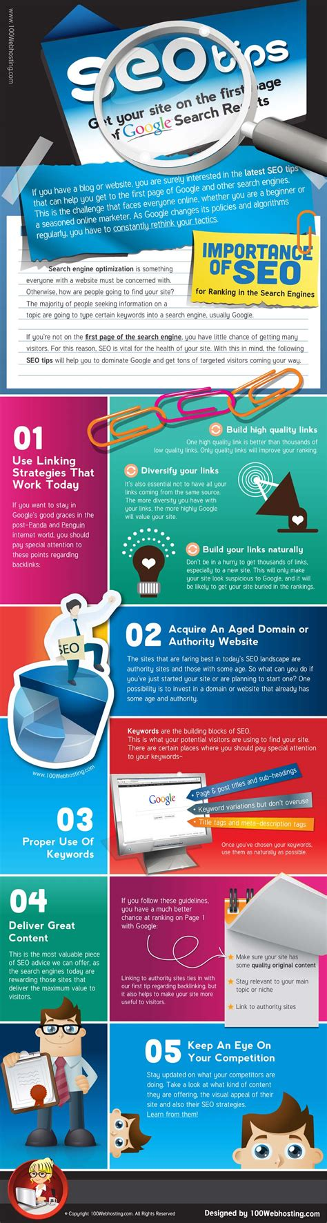 Search Engine Friendly Seo Tips Infographic Top