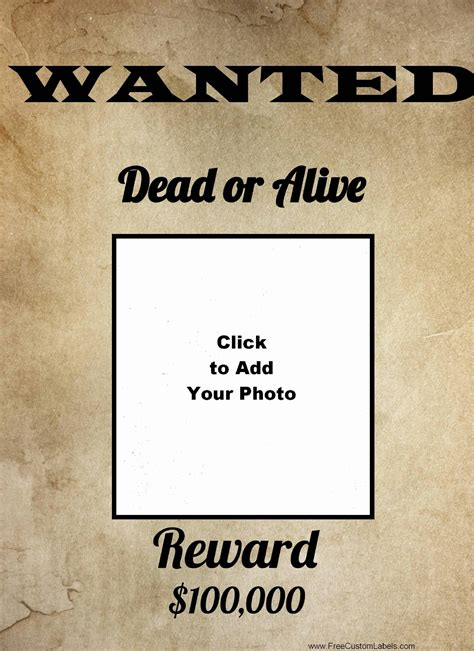 wanted poster maker    printable wanted