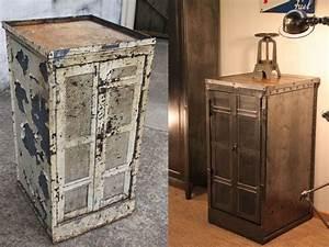conseils pratiques pour renover un meuble industriel With comment renover un meuble