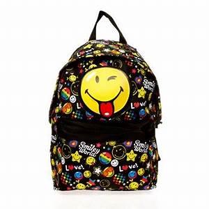 smiley funny sac a dos jaune ikase ref 590577 With chambre bébé design avec sac eastpak motif fleur