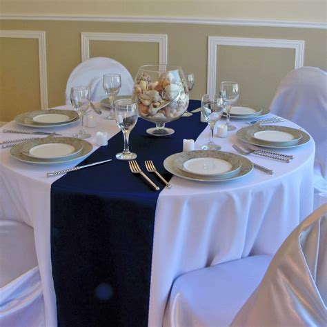 navy blue and white wedding table decorations wedding
