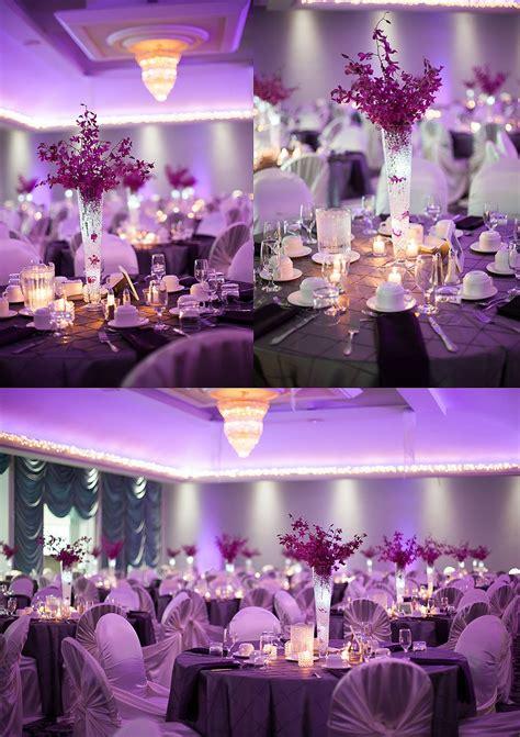 edmonton purple wedding reception photos by nathan walker