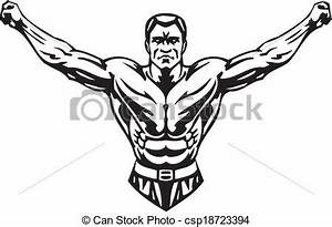 Bodybuilding and powerlifting - vector. Bodybuilding and ...