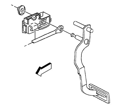 2003 Suburban Wiring Diagram Pedal by How Do I Put The Clip Back On The Brake Switch