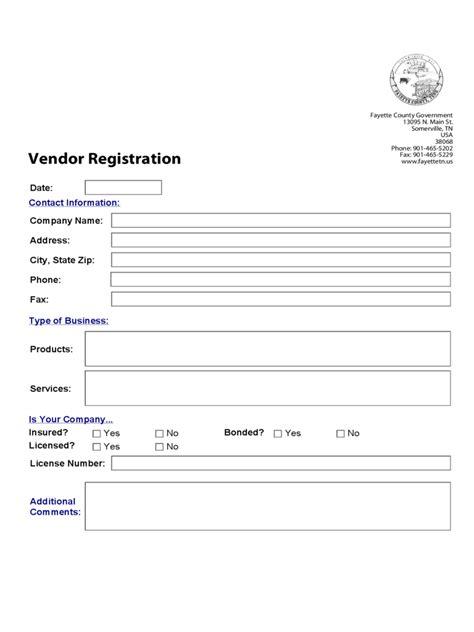 vendor registration form 6 free templates in pdf word excel