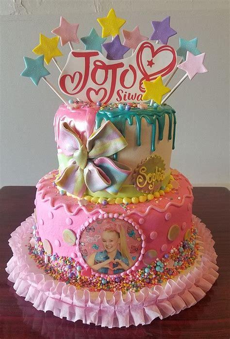 jojo siwa tiered cake adrienne  bakery jojo siwa