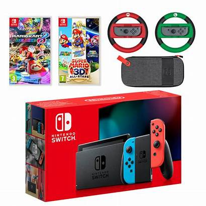 Switch Nintendo Mario Pack Neon Mega Console