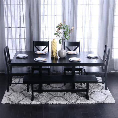 Black Dining Room Sets walker edison furniture company millwright 6 black