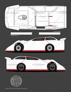 race car graphic design templates - dirt late model template of racing graphics