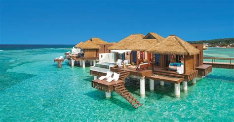 Overwater Bungalows In The Caribbean Islands