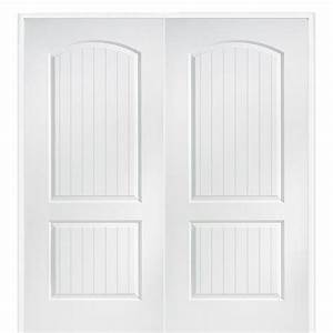 masonite 48 in x 80 in smooth 10 lite solid core primed With home depot interior french door