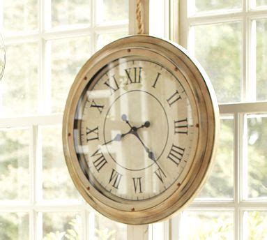 Living Room Station by White Station Clock At Pottery Barn Home Mantel Clocks