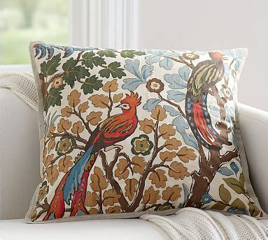 Nell Beaded Pillow Cover Pottery Barn by Mayle Bird Pillow Cover Pottery Barn
