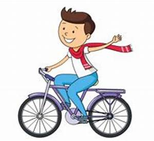 Pushbike clipart child riding - Pencil and in color ...