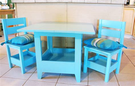 ana white square top storage table chairs diy projects