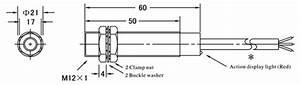 Proximity Sensor  Inductive  M12  Shielded  Npn
