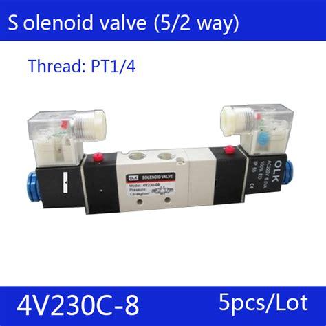 very100 5 5 quot port 5pcs 1 4 quot 2 position 5 port air solenoid valves 4v230c 08 pneumatic valve dc24v ac36v