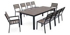 Table Salon De Jardin by Salon De Jardin 10 Places En Aluminium Et Polywood