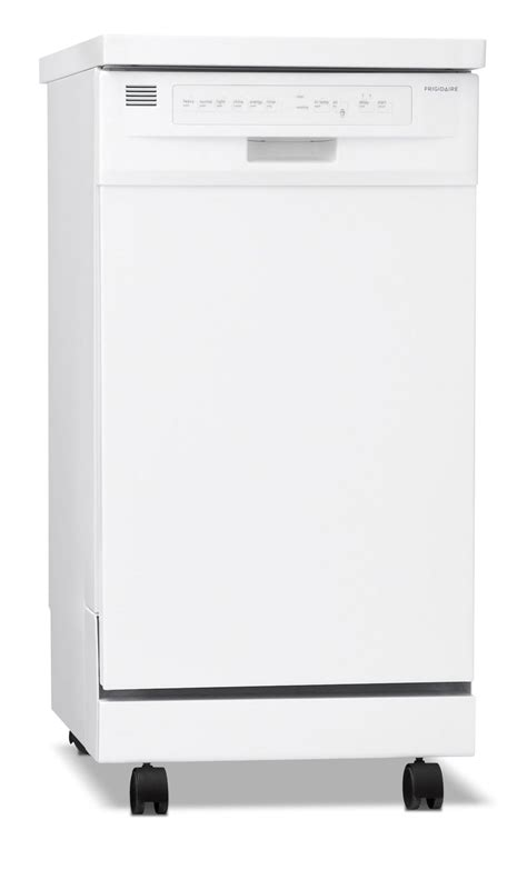 frigidaire white portable  dishwasher ffpdmw leons