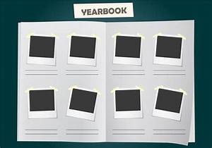 album yearbook vector template download free vector art With templates for yearbook pages